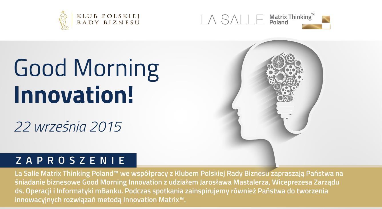 Good Morning Innovation